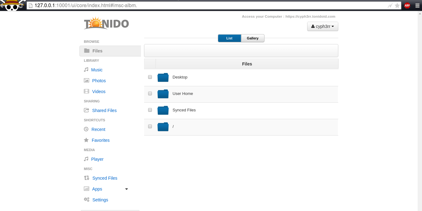 How to install Tonido private cloud server on Ubuntu Linux