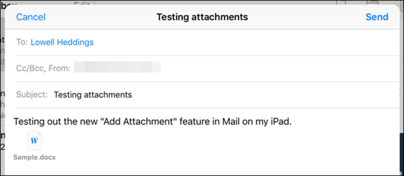How To Attach A File Or Image To Email In The IOS 9 Mail App