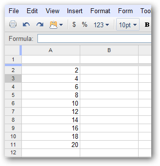 Convert a Row to a Column (or Backwards) in Google Docs Spreadsheets