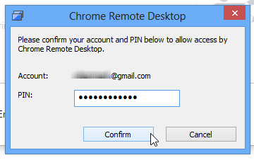 Image result for Please enter the PIN Chrome Remote Desktop Extension