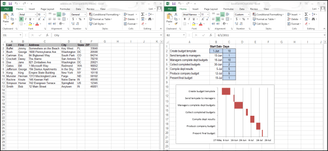 How to View Spreadsheets Side-by-Side in Separate Windows in Excel 2013