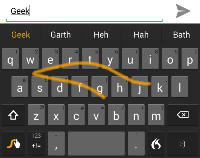 swype-on-android