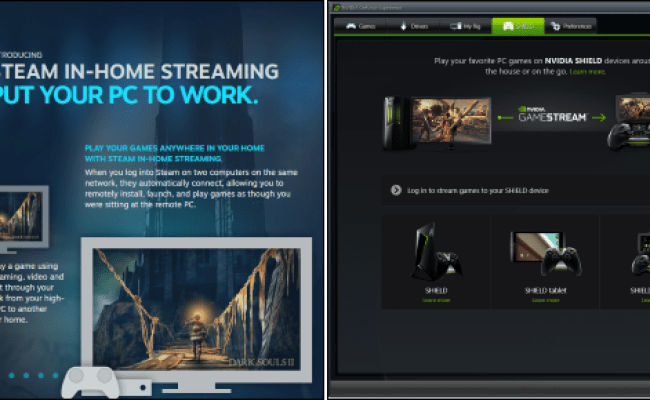 Steam In Home Streaming Vs Nvidia Gamestream What S The