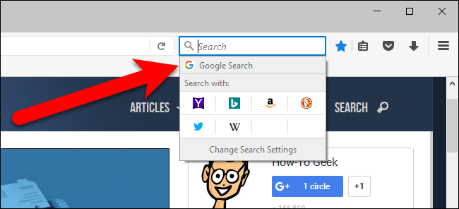 How to Change the Firefox's Default Search Engine Back to Google
