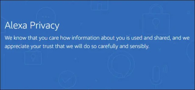 Alexa Privacy Notice from their Website