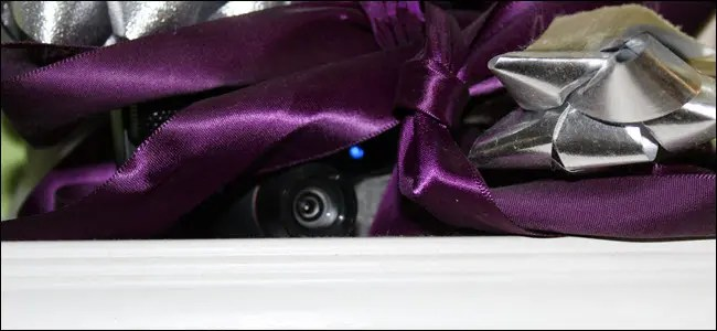 Camera hidden in some ribbons