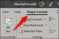Select the Shape Format tab