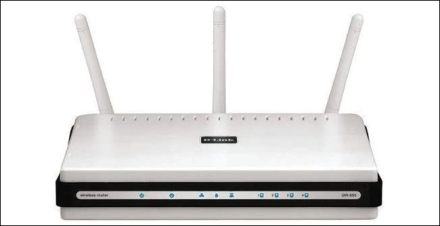 A D-Link DIR-655 wireless router.