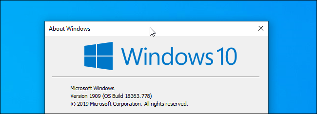Clicking a window's title bar on Windows 10.
