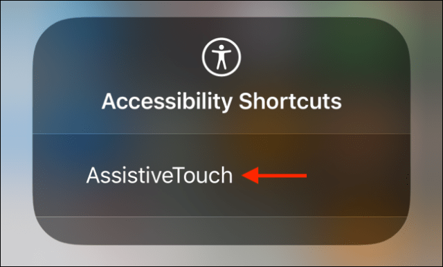 Tap on AssistiveTouch from Control Center