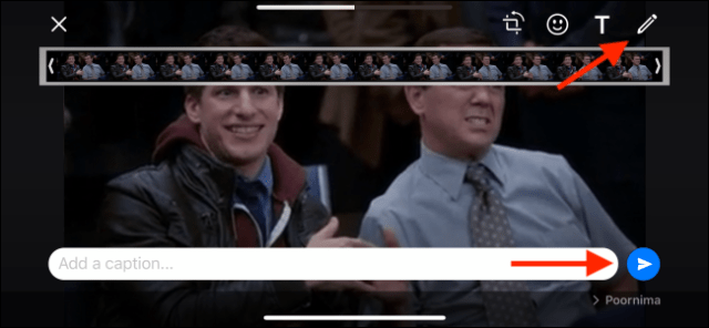 Tap on Send to send the GIF