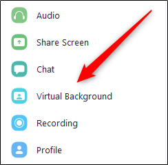 """Click """"Virtual Background"""" in the Zoom Settings menu."""