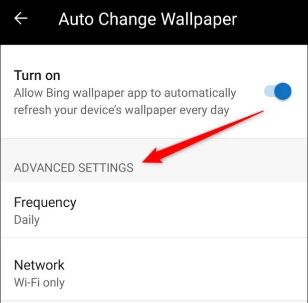 You can now customize the frequency of automatic wallpaper and network preference settings.