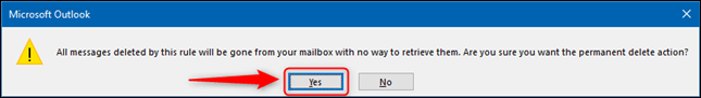 The deletion confirmation message.