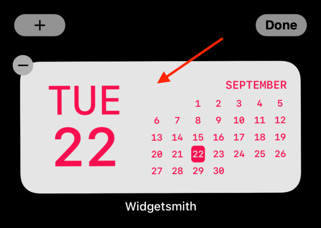 Tap the widget after adding it