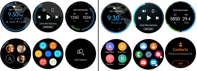 tizen vs one ui