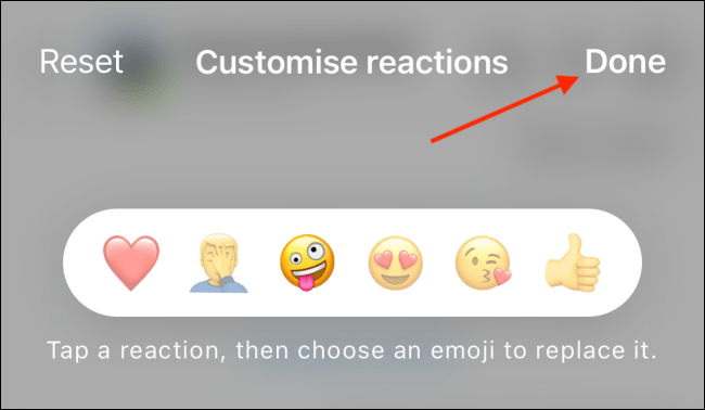 Tap Done to Save Customized Emojis