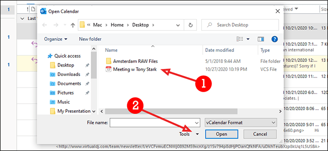 click file then open