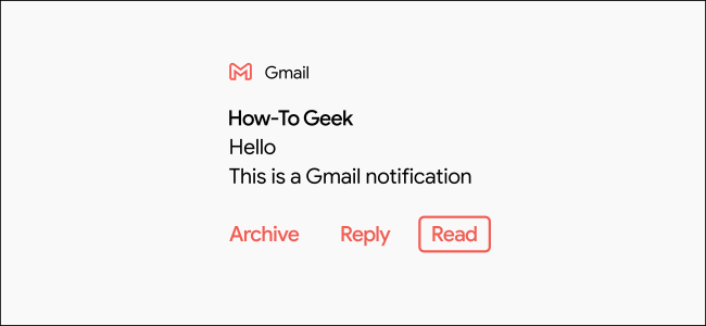 """A Gmail notification marked """"Read."""""""