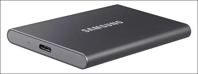 Samsung External USB solid-state drive.