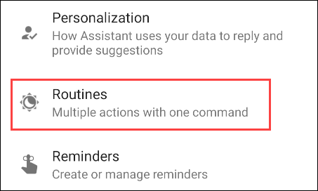 """select """"Routines"""" from the list"""