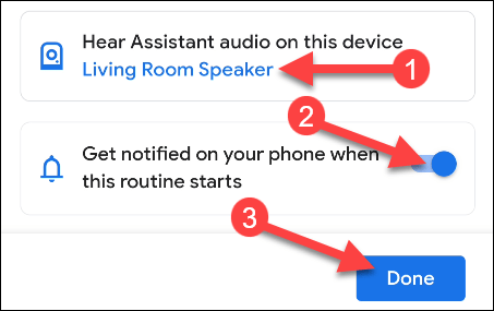 choose a device and notification