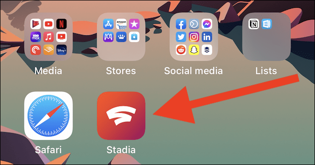 The Stadia shortcut will be added to your home screen