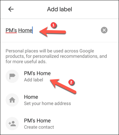 """In the """"Add Label"""" menu, type a label in the available box, then tap the """"Add Label"""" option underneath."""