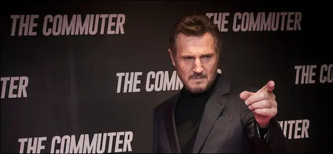 Liam Neeson on the red carpet