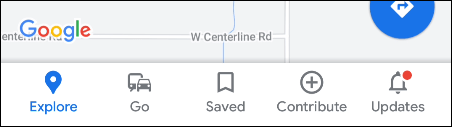 google maps nav bar