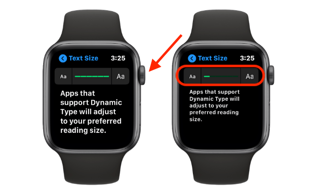Increase Text Size on Apple Watch
