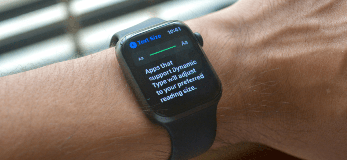 Increasing Text Size on Apple Watch