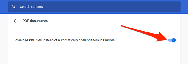 Download PDF option in Chrome