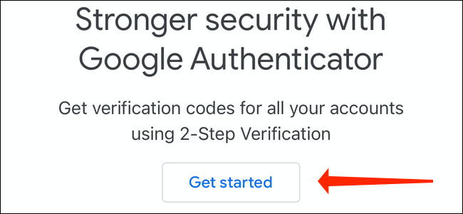 Set up two-factor authentication via Google Authenticator