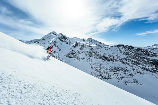 photo of a skier