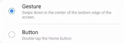 Choose how to enable One Handed Mode.