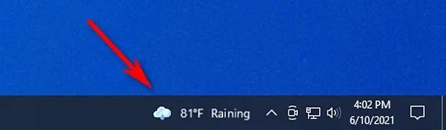 Click the Windows 10 News and Interests widget in the taskbar to open it.
