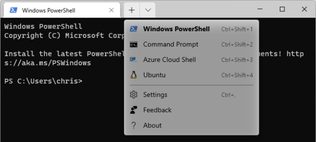 Click the down arrow and select your Linux distribution.