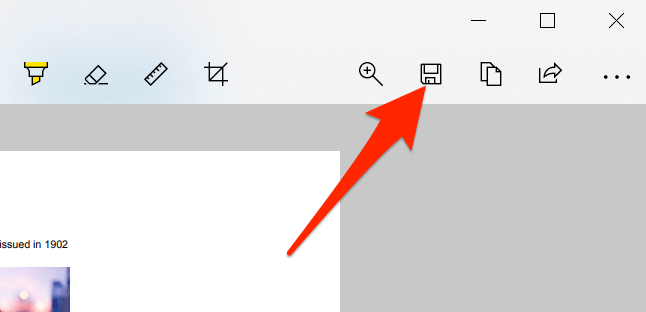 """Click """"Save As"""" in Snip & Sketch."""