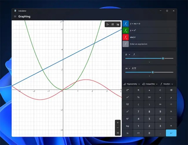 Windows 11 graphing mode
