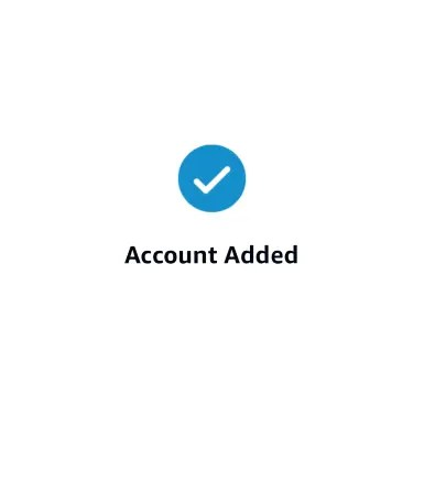 account added notification