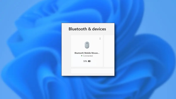 A Bluetooth Device Showing Battery Level in Windows 11