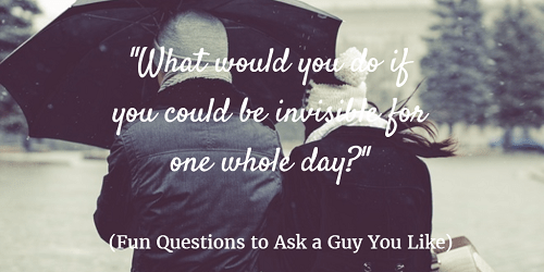 Fun questions to ask the guy your dating