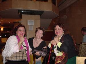 The women who decided to talk us up at the hotel in London