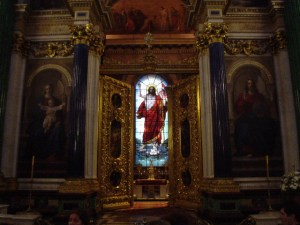 The holy altar of St. Isaac's Cathedral