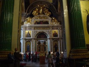 The holy candle room of St. Isaac's Cathedral