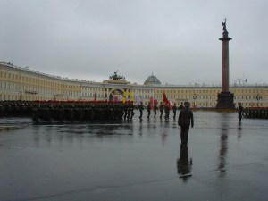 Military drills in Palace Square
