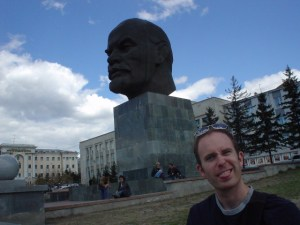 Big dead Lenin and head and I