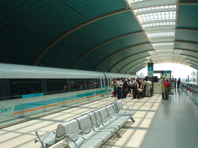 The train at Longyang Rd. Station