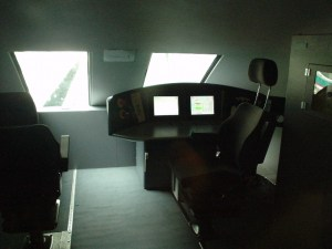 Cockpit of the train